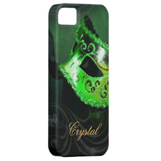 Midnight Masquerade Green Fantasy Iphone Five Case