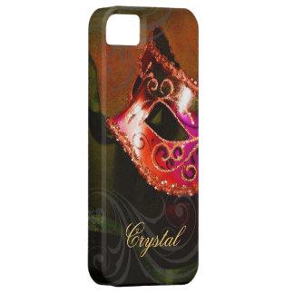 Midnight Masquerade Red Fantasy Iphone Five Case