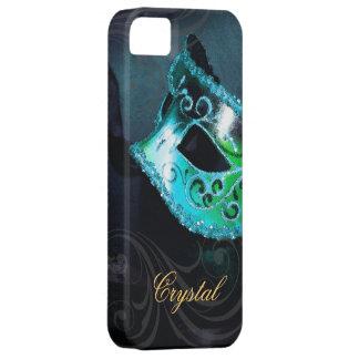 Midnight Masquerade Teal Fantasy Iphone Five Case