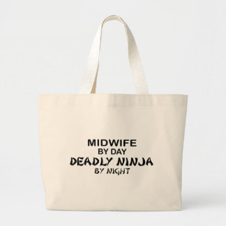 Midwife Deadly Ninja by Night Jumbo Tote Bag