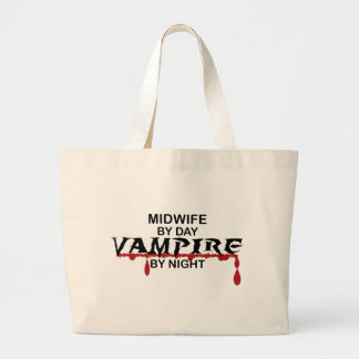 Midwife Vampire by Night Jumbo Tote Bag