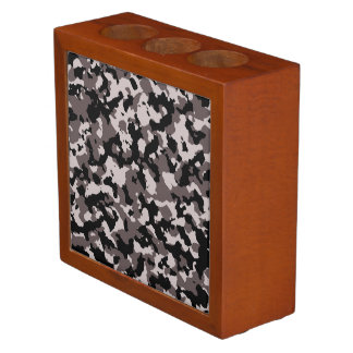 Military Brown Camouflage Pattern Pencil Holder