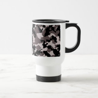 Military Brown Camouflage Pattern Stainless Steel Travel Mug