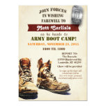Military Farewell Going Away Boot Camp Invitation