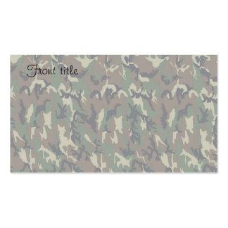 Military Forest Camouflage Background Lightened Pack Of Standard Business Cards