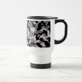 Military Gray Camouflage Pattern Stainless Steel Travel Mug