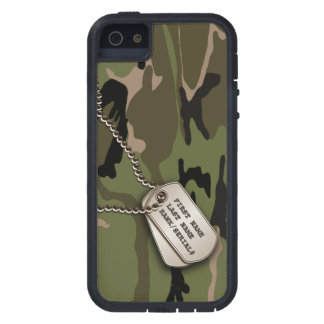 Military Green Camo w/ Dog Tag iPhone 5 Cover