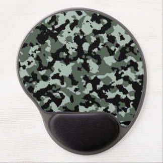 Military Green Camouflage Pattern Gel Mouse Pad