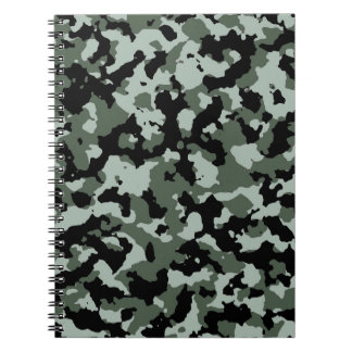 Military Green Camouflage Pattern Note Book