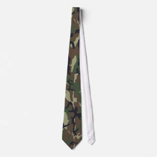 Military Green Camouflage Pattern Tie