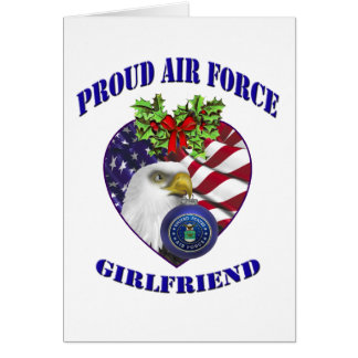 Military Proud Air Force Girlfriend Christmas Card