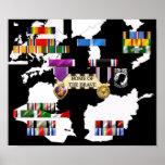 Military Ribbons Poster