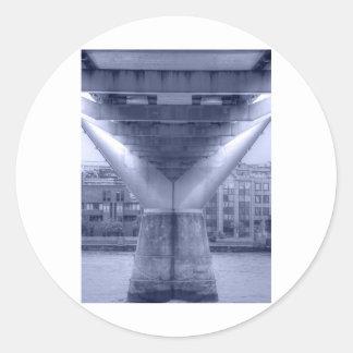 Millennium Bridge Round Sticker
