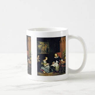 Milton Dictated To His Daughters Basic White Mug