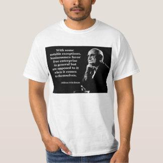 Milton Friedman Crony Capitalism Tshirt