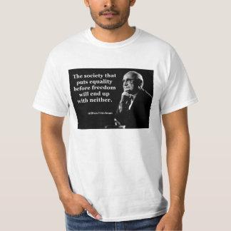 Milton Friedman Equality Freedom Quote Shirt