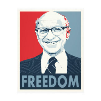 Milton Friedman Gallery Wrapped Canvas