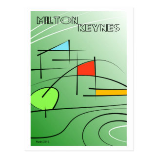 Milton Keynes minimalism postcard