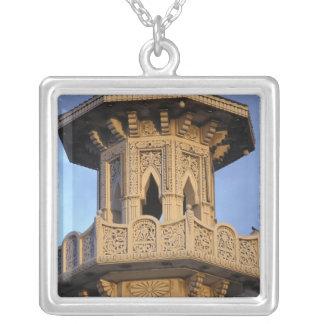 Minaret of the Al-Majarra Mosque, Sharjah, Square Pendant Necklace