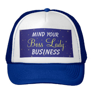 Mind Your Boss Lady Business Sparkle Trucker Hat