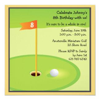 Miniature Golf Game Invitation
