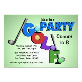 Miniature Golf Party 13 Cm X 18 Cm Invitation Card