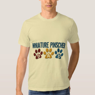 MINIATURE PINSCHER Dad Paw Print 1 T Shirts