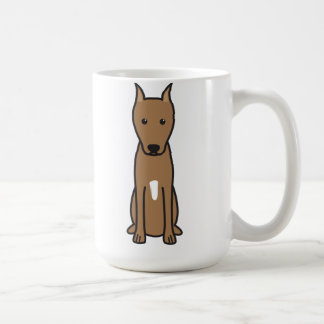 Miniature Pinscher Dog Cartoon Basic White Mug