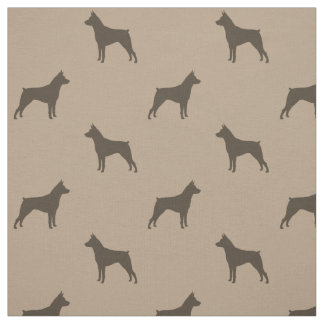 Miniature Pinscher Silhouettes Pattern Fabric