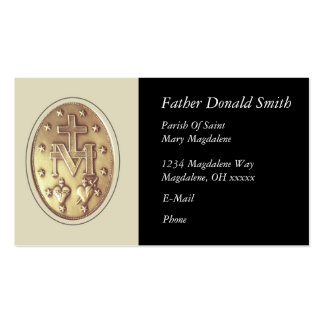 miraculous medal pack of standard business cards