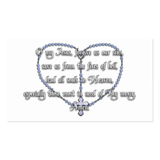 Miraculous Medal Rosary - Fátima Prayer Pack Of Standard Business Cards