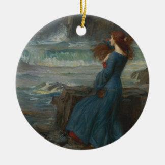 Miranda (The Tempest) Round Ceramic Decoration