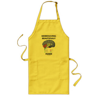 Misbehaving Beautifully Inside (Anatomical Brain) Long Apron
