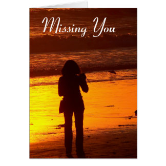 Missing You_ Card_by Elenne Greeting Card