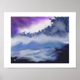 Mist over Freezing Water Art Poster