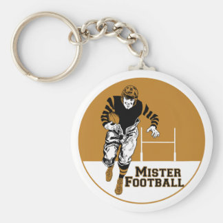 Mister Football Basic Round Button Key Ring