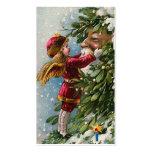 """Mistletoe"" Vintage Christmas Gift Tag Pack Of Standard Business Cards"