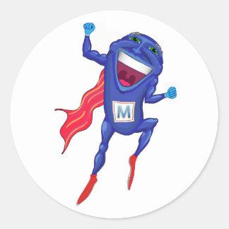 Mitochondria Man Round Sticker