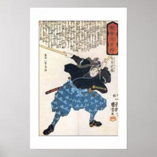 Miyamoto Musashi Painting c. 1800's Poster