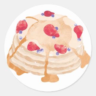 mmm pancake round sticker