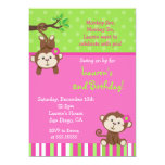 Mod Monkey Birthday Invitations