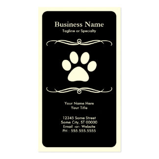 mod pet paw pack of standard business cards