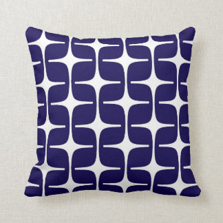Mod Rectangles Pattern in Cobalt Blue and White Cushions