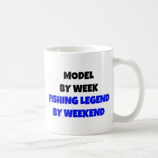 Model by Week Fishing Legend By Weekend Basic White Mug