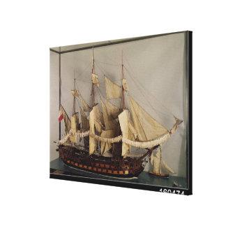 Model of the ship 'L'Achille' Canvas Prints