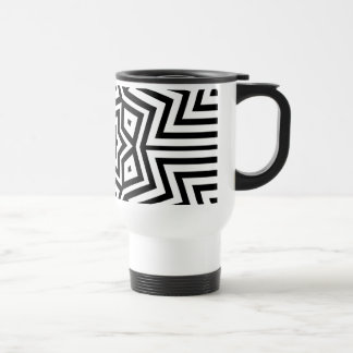 Modern Abstract Black and White design Stainless Steel Travel Mug