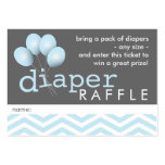 Modern Baby Shower Diaper Raffle Ticket Insert Pack Of Chubby Business Cards