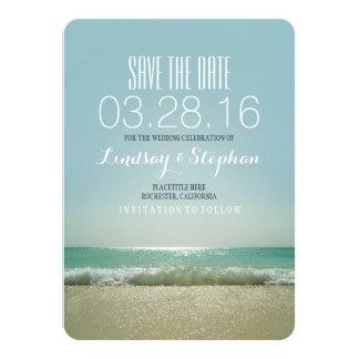 Modern beach wedding save the date cards 11 cm x 16 cm invitation card