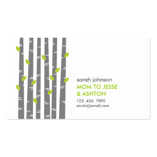 Modern Birch in Grass Mommy Calling Card Pack Of Standard Business Cards