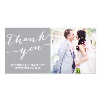 MODERN CALLIGRAPHY | WEDDING THANK YOU PHOTO CARD